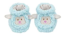 Baby Snoozies Plush Sherpa Animal Booties Blue Lamb Medium (3-6 Months)