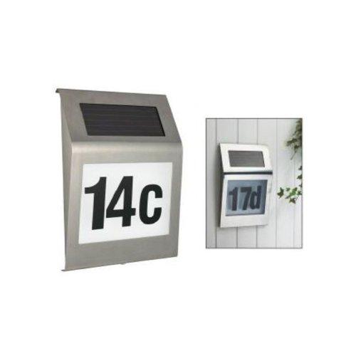 Num ro de maison design en acier inoxydable avec led solaire 218 - Numero de maison design ...