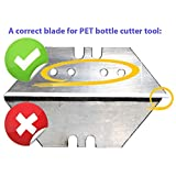 Replacement blades for Creative Plastic Bottle Cutter Tool, Rope Making Tool - get Free Rope from Wasted PET Bottles, Reuse and Upcyle Plastic Waste (10 Replacement blades)