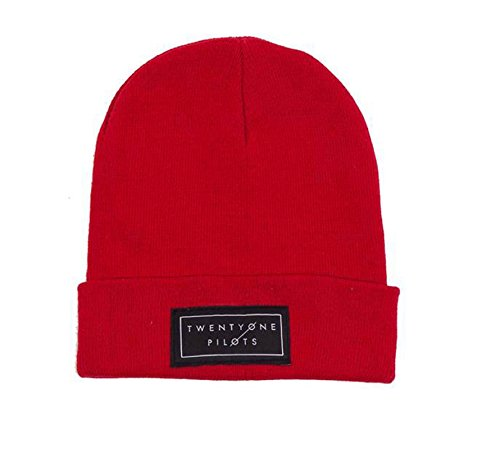 official-twenty-one-pilots-red-beanie-hat-text-logo-gift