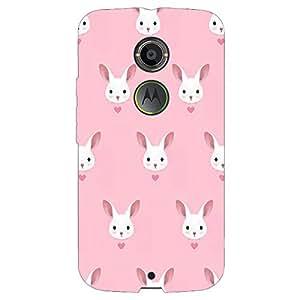 Jugaaduu Rabbit Back Cover Case For Moto X (2nd Gen)