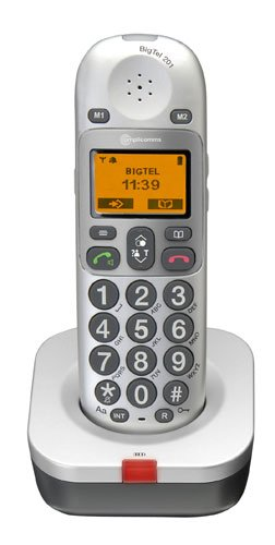 Amplicomms BigTel 201 Big Button Cordless Single DECT Additional Handset - White image