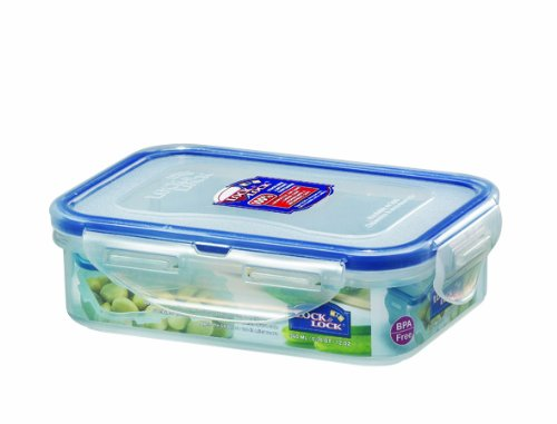Lock And Lock Bpa Free Rectangular Food Container With Leak Proof Locking Lid, Short, 1.5-Cup, 12 Fluid Ounce