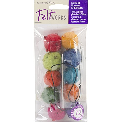 Dimensions Feltworks Bead Jewelry Kit, 10-Pack, Assorted Brights - 1