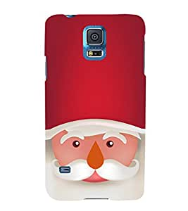 EPICCASE Santa Face Mobile Back Case Cover For Samsung Galaxy S5 Mini (Designer Case)