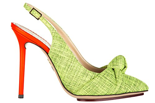 charlotte-olympia-womens-leather-pumps-court-shoes-high-heel-green-uk-size-45-ava-sling-back