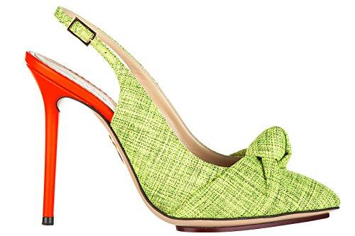 charlotte-olympia-zapatos-de-salon-escotes-mujer-en-piel-nuevo-verde-eu-375-ava-sling-back