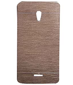 Brownish Gold Exclusive Metal Finish Hard Back Case Cover For Oppo R1001 Joy