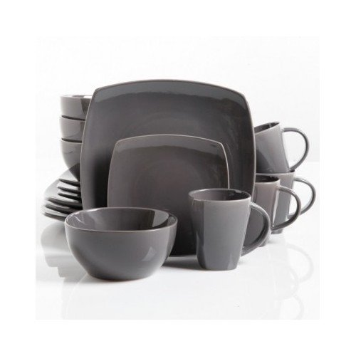 Square Dinnerware Service for 8 Plates Bowls Mugs 32-Piece Set Modern Gray  sc 1 st  Anna Linens & Square Dinnerware Service for 8 Plates Bowls Mugs 32-Piece Set ...