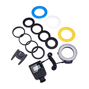 BestDealUSA RF-550D Marco LED Ring Flash LCD Display For Nikon Canon DSLR Camera New