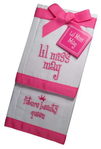 Lil Miss May Future Beauty Queen Baby Burp Cloths - Set of 2