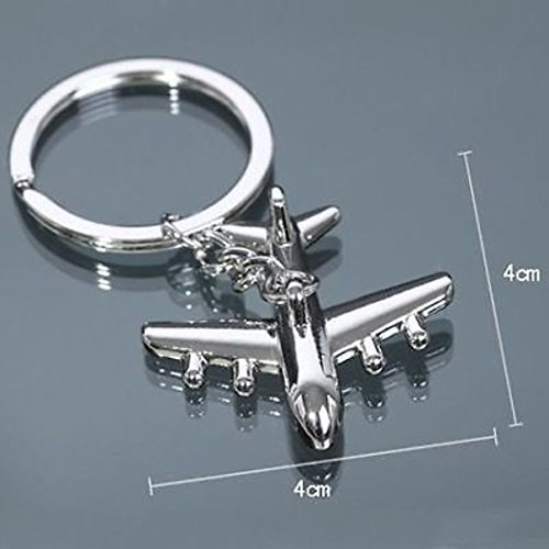1Pcs Sublime Chic Air Plane Keychain Keyfob Keyring Toy Design Colors Silver