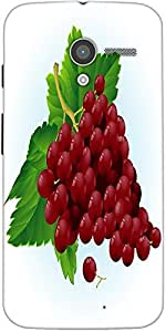 Snoogg Grapes Vector Designer Protective Back Case Cover For Motorola X / Moto X