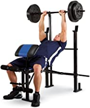 Marcy Classic Bench and Weight Set 120-Pound