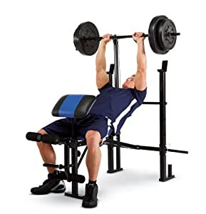 Marcy Classic Bench and Weight Set (120-Pound)
