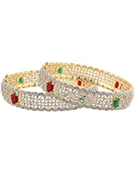 Bollywood Fashion Style Gold Plated Indian Bangles CZ Stone Bracelet Party Wear Jewellery