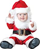 InCharacter Costumes, LLC Santa Baby Lined Zippered Jumpsuit, Red White Black, Large