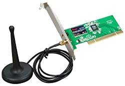Rosewill Wireless Adapter IEEE 802.11b/g/n PCI 2.2 Upto 150Mbps Data Rates (RNX-N150PCX)
