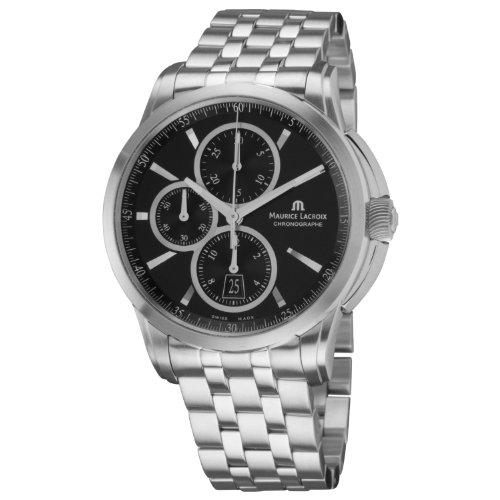Maurice Lacroix Men's PT6188-SS002330 Pontos Pontos Black Chronograph Dial Watch