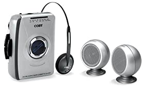 COBY CX-4912 AM/FM Stereo Cassette Player with Mini Stereo Speakers