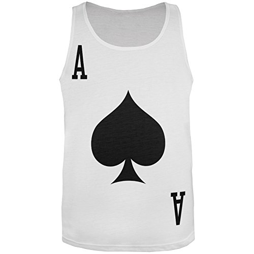 [Halloween Ace of Spades Card Soldier Costume All Over Adult Tank Top - Small] (Zombie Soldier Costumes)