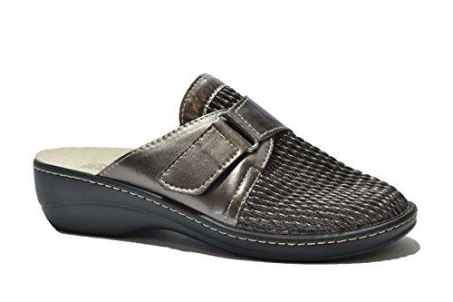 Cinzia Soft Ciabatte piombo PLANTARE ESTRAIBILE scarpe donna MLH39 36