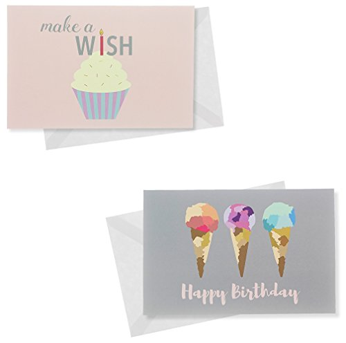 Happy Birthday 48 Birthday Cards 6 Designs Bacon Beer Steak – Assorted Birthday Cards in Bulk
