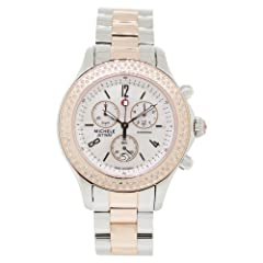 Michele Women's MWW17A000017 Stainless-Steel Analog White Mother Of Pearl Dial Watch