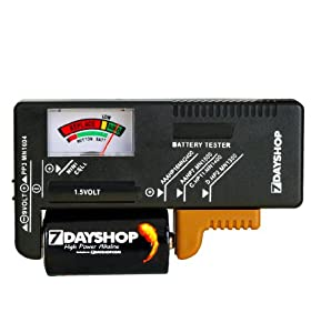 7dayshop Analogue AA / AAA / C / D / 9V / Button Cell Battery Tester