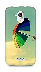 Amez designer printed 3d premium high quality back case cover for Micromax Canvas HD A116 (Colorful Umbrella Field Clouds)