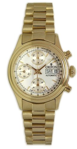 Croton 18K Solid Gold Men's Cronograph Watch - CR2400