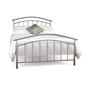 Double bedstead and mattress metal bed frame neptune for Quilted bed frame