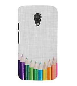 CLOURFULL PENCILS ON A CLOTH PIC 3D Hard Polycarbonate Designer Back Case Cover for Motorola Moto G2 X1068 :: Motorola Moto G (2nd Gen)