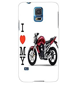 ColourCraft Bike Back Case Cover for SAMSUNG GALAXY S5