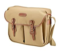 Billingham Hadley Large, SLR Camera System Shoulder Bag, Khaki Canvas with Tan Leather Trim and Brass Fittings
