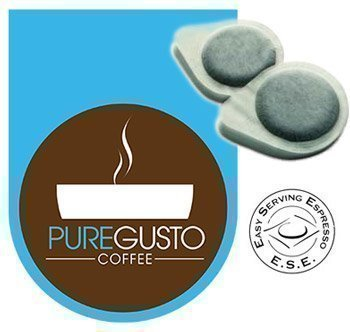 Purchase PureGusto - Sumatra Crema - ESE Coffee Pods (100) - FREE DELIVERY by PureGusto