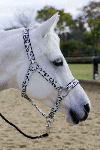 HKM Halfter Animal, Pony, weiß/schwarz