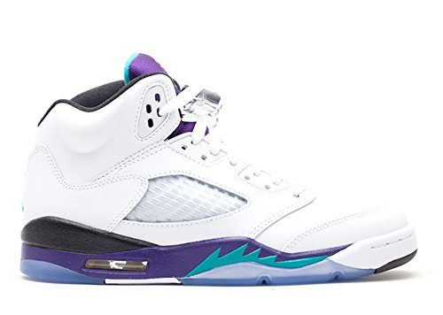 stevenok Leather Basketball Shoes Air Jordan 5 Retro gs grape 2013 release White new emerald grp ice blk 011745 1 Athletic Sport Basketball Running Sneaker (Grape Retro 13 Jordan Shoes compare prices)