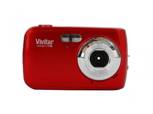 Vivitar V7122-Red 7 Mp Digital Camera With 1.8-Inch Lcd Screen And Anti-Shake (Red)