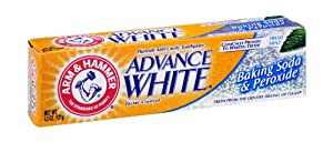 Arm and Hammer Advanced White Toothpaste, Dental Baking Soda and Peroxide, 4.3-Ounce Tubes (Pack of 3)