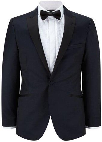 Austin Reed Slim Fit Navy Tuxedo Jacket LONG MENS 40