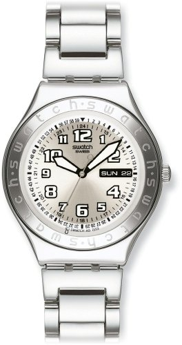 Swatch Mens Cool Days Metal Silver Dial Watch