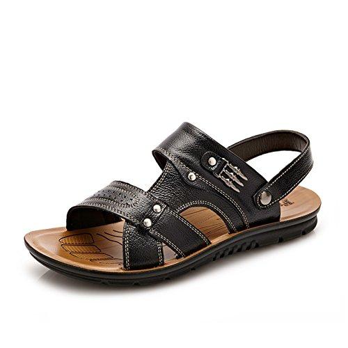 Scarpe uomo casual/Scarpe da spiaggia/Sandali in pelle traspirante/Scarpe aperte-B Lunghezza piede=26.3CM(10.4Inch)