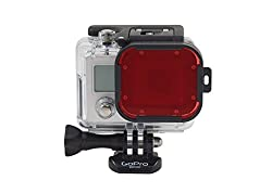 Red Cube Acrylic Filter-Tropical Water Color Correction-Scuba Diving-Hero3 Black Silver and White Accessory
