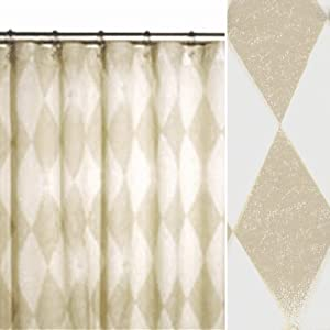 96 Harlequin Fabric Extra Long Shower Curtain