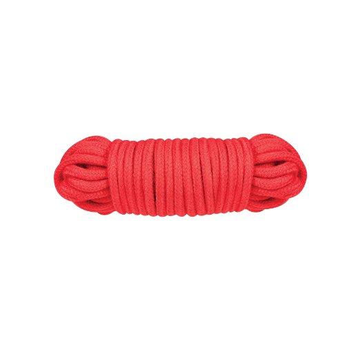 NMC Bondage Rope - Fessel Seil für fesselnde Spiele - 10 m lang - Durchmesser: 6 mm - rot