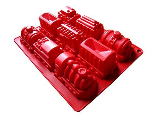 Silikon-Kuchenform Eisenbahn groß Backform Zug Silikon (unterschiedliche Farben - keine Farbwahl möglich) Neues Modell!
