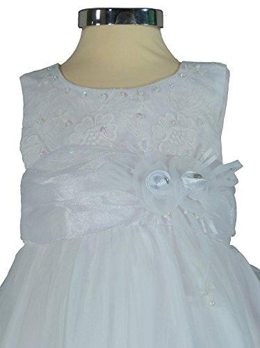 05a93617d1 PC537 – Samtlebe® – Taufkleid Mädchenkleid in Weiß Gr. 92/98 – Samtlebe
