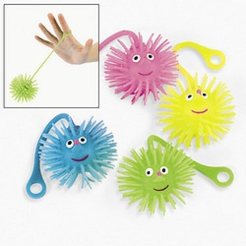 Fun Express Smile Face Yoyo Puffer Balls Party Favors Novelty (Lot of 12) - 1