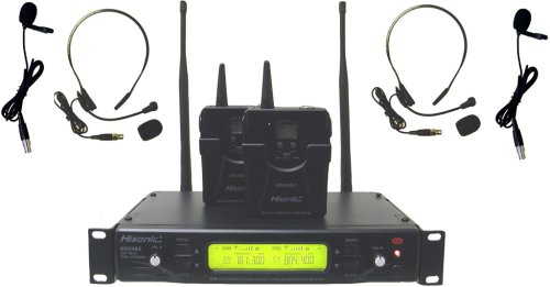 Hisonic Hsu482L 48-Channel Dual Uhf Wireless Headset Microphone System